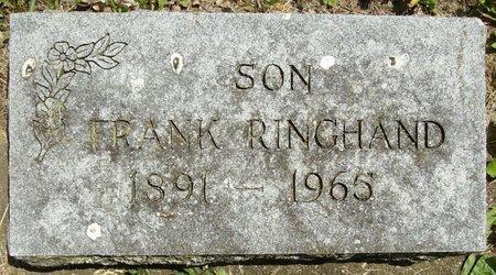 RINGHAND, FRANK EARL - Rock County, Wisconsin | FRANK EARL RINGHAND - Wisconsin Gravestone Photos