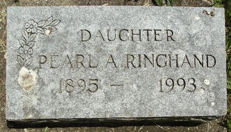 RINGHAND, PEARL A. - Rock County, Wisconsin | PEARL A. RINGHAND - Wisconsin Gravestone Photos